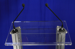 lectern-with-mics